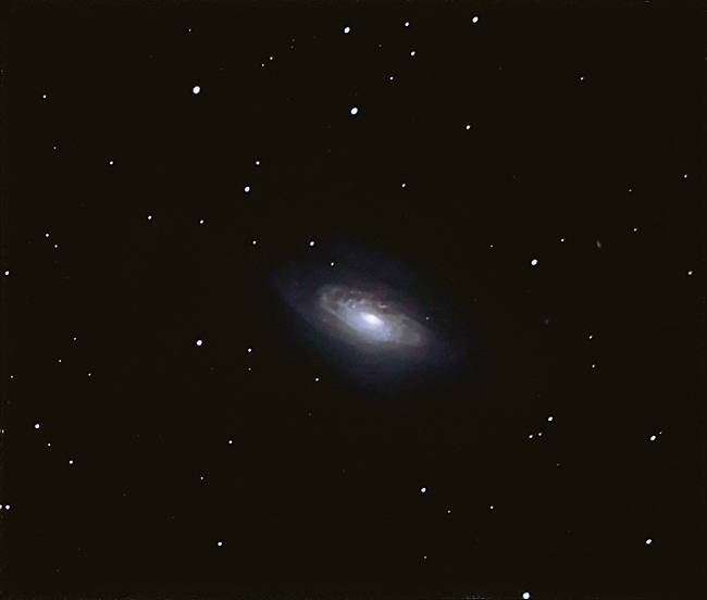 NGC3521; mag 9.9; size 9.5x4.6'; exp 26-min(60s subs); 60Da @ISO3200; C9.25 @f/5.4; guided - 80mm; 4-24-14; Belleplain