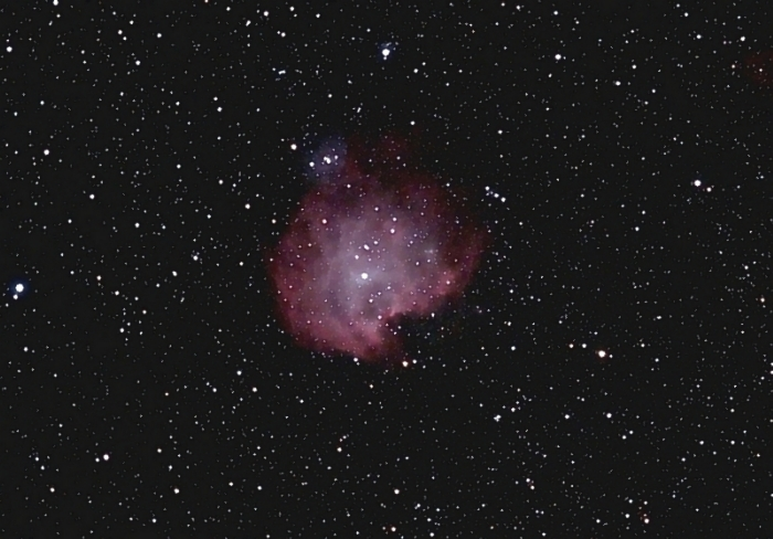 NGC2174; mag 30, size 40'; 36 min (36x60sec); Canon 200mm f/2.8 lens; ISO 1600; IDAS; 2-24-09; Coyle