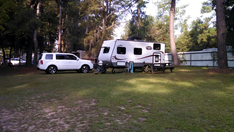Our camper rig at Santee Lakes Campground - observing site for the eclipse